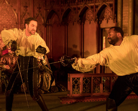 Laertes and Hamlet fight