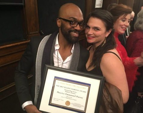 Maurice Emmanuel Parent and Kimberly Dawson at Norton Awards 2017