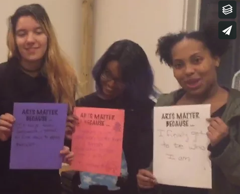 Thumbnail of video of ASP youth on #ArtsMatter